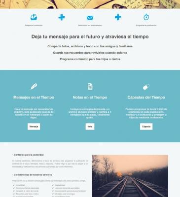 Diseño Web para Startup Notas en el Tiempo
