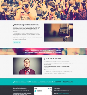 Diseño Web para Startup Red Influencer